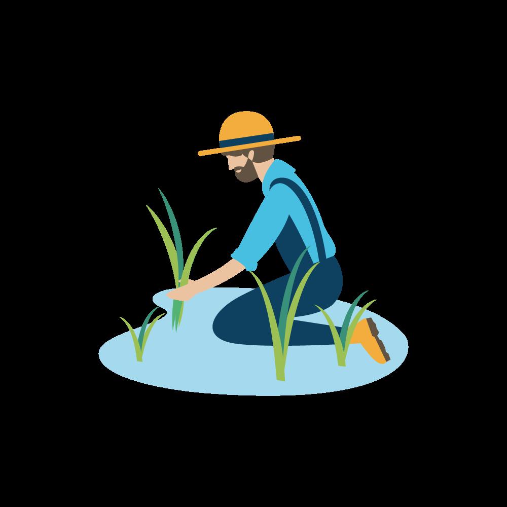 Icona contadino